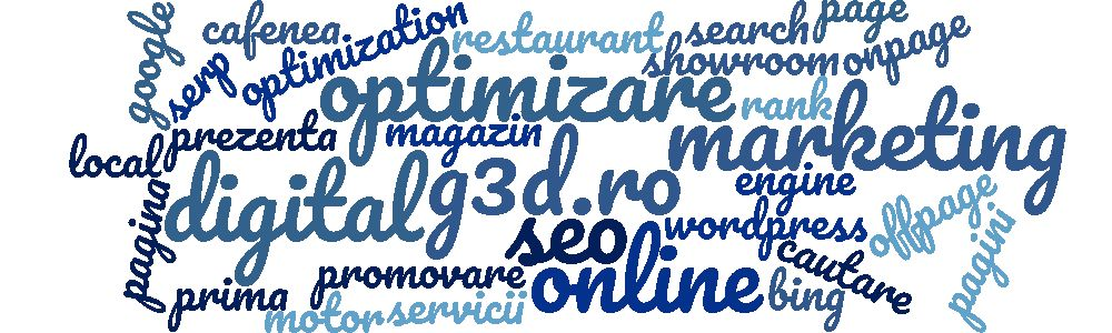 Servicii SEO local - nor de cuvinte - G3D.ro